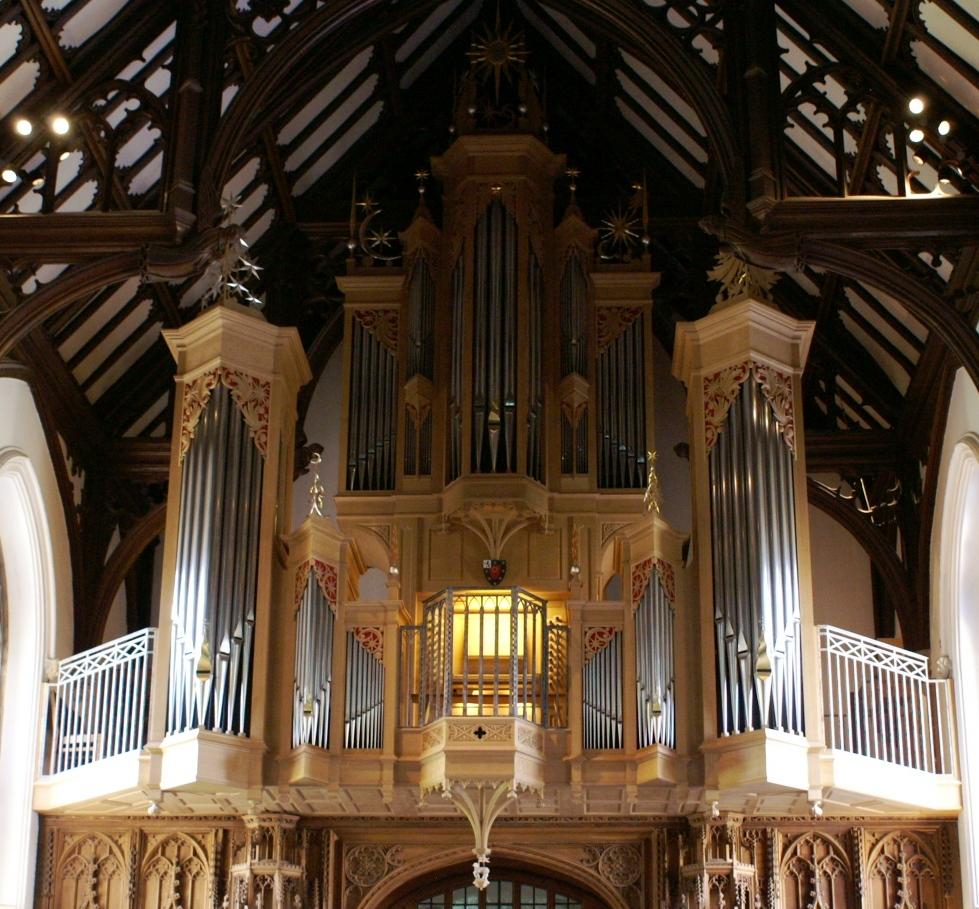 Aubertin organ, St. John's College, St Giles (Photo: R Blanch)