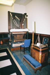 """The """"naked"""" organ by Robert and William Gray (1796) (Photo: D Clark)"""